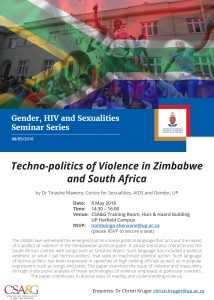 Techno-politics of Violence in Zimbabwe and South Africa by Dr Tinashe Mawere